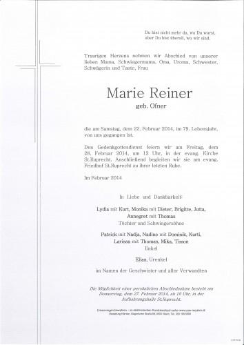 Marie Reiner