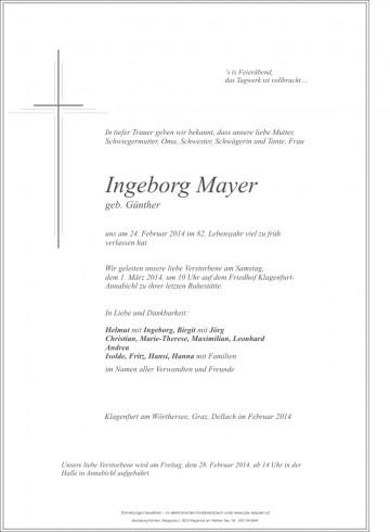 Ingeborg Mayer