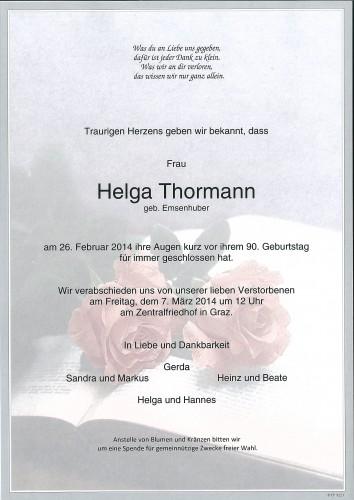 Helga Thormann