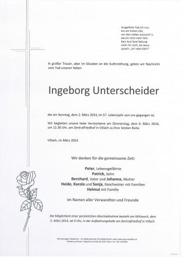 Ingeborg Unterscheider