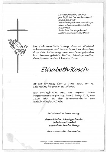Elisabeth Maria Kosch