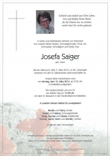 Josefa Saiger