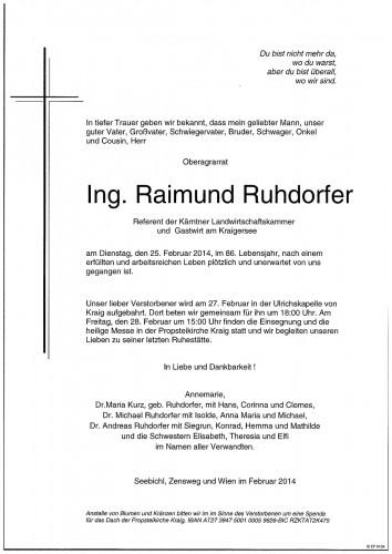 Ing. Raimund Ruhdorfer