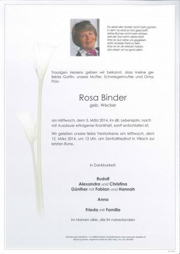 Rosa Binder