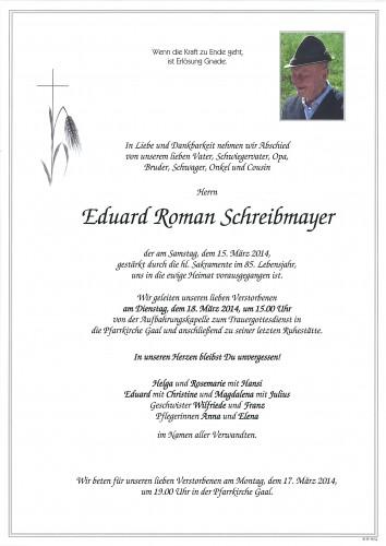 Eduard Roman Schreibmayer