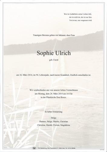 Sophie Ulrich
