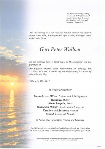 Gert Peter Wallner