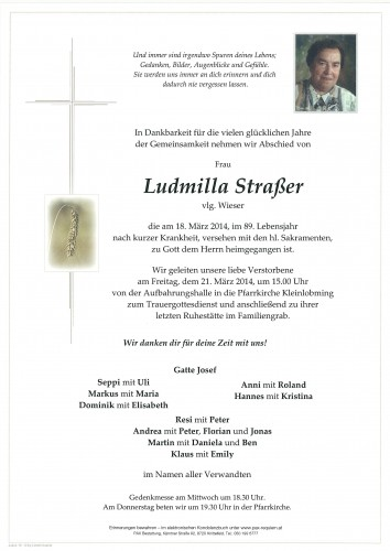 Ludmilla Straßer