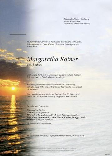 Margaretha Rainer