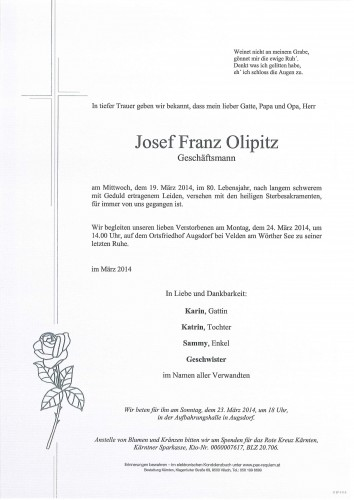 Josef Franz Olipitz