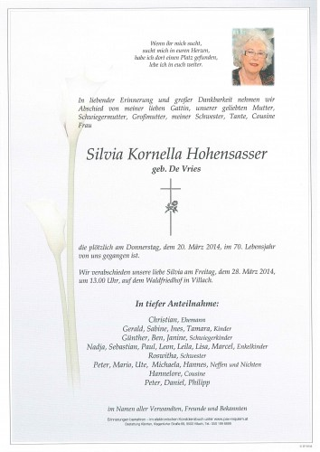 Silvia Kornella Hohensasser
