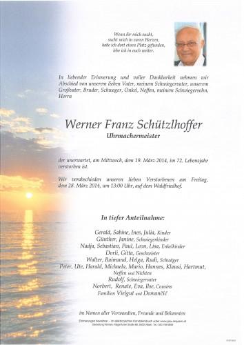 Werner Franz Schützlhoffer