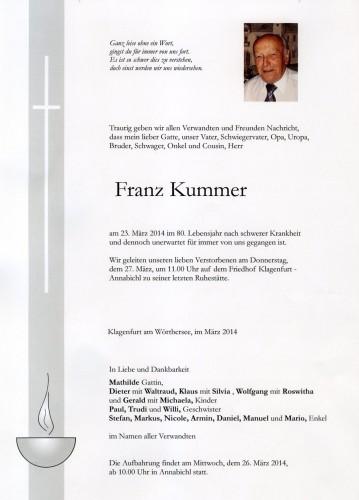 Franz Kummer