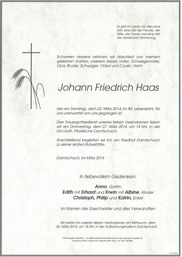 Johann Friedrich Haas