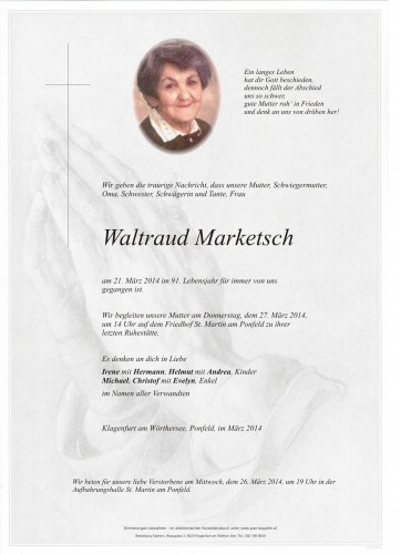 Waltraud Marketsch
