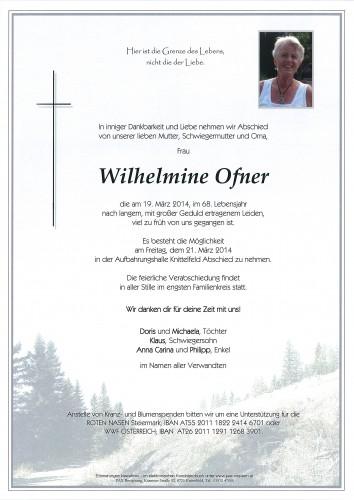 Wilhelmine Ofner
