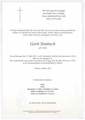 Hildegard Sintitsch geb. Zankl