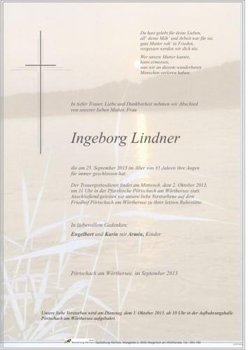 Ingeborg Lindner