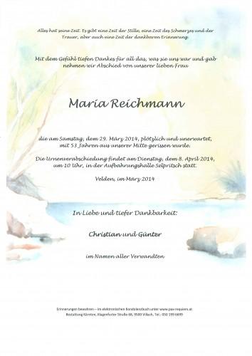 Maria Reichmann