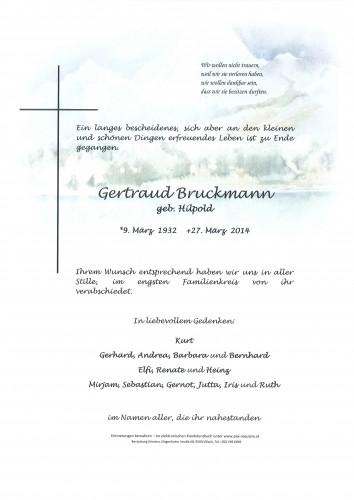Gertraud Bruckmann geb. Hilpold