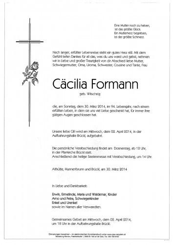 Cäcilia Formann