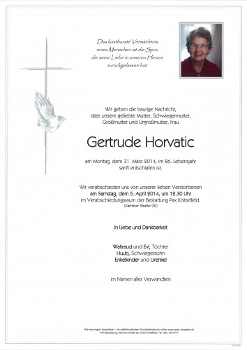 Gertrude Horvatic