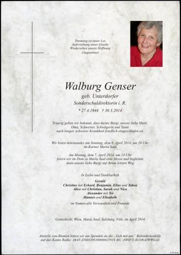 Walburg Genser