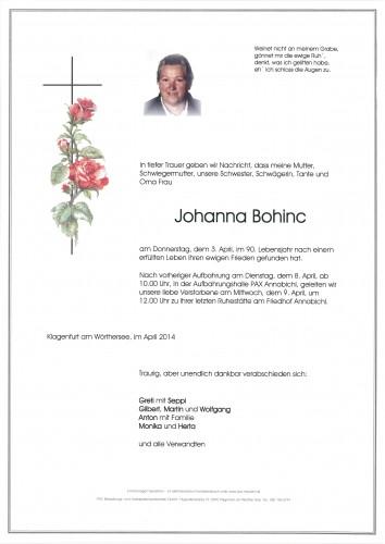 Johanna Bohinc