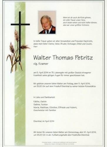 Walter Thomas Petritz