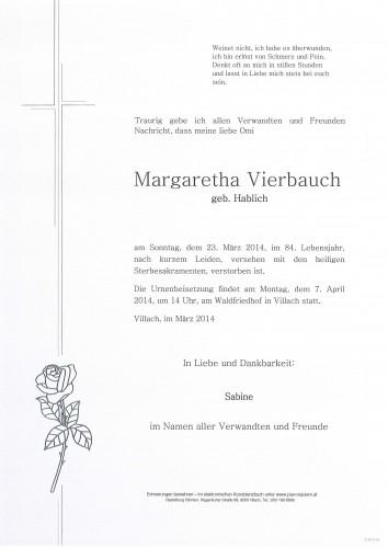 Margaretha Vierbauch