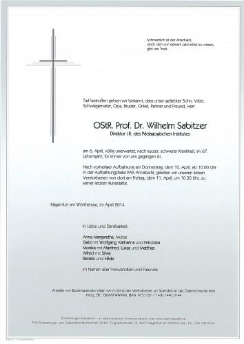 Dr. Wilhelm Sabitzer