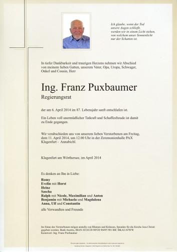 Ing. Franz Puxbaumer