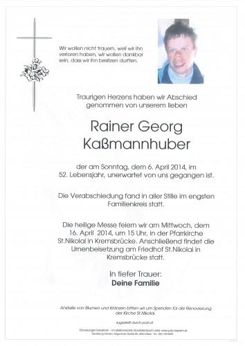 Rainer Georg Kaßmannhuber
