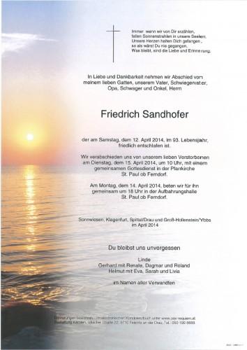 Friedrich Sandhofer
