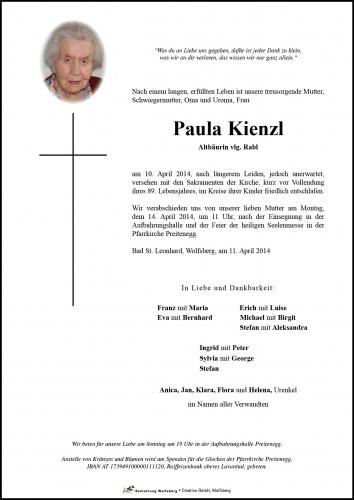 Paula Kienzl