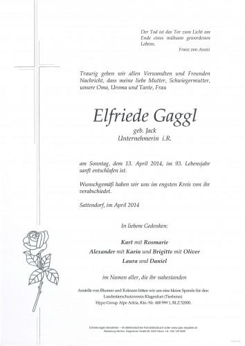 Elfriede Gaggl geb. Jack
