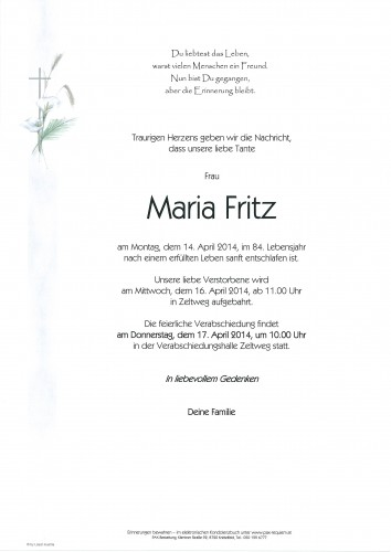 Maria Fritz