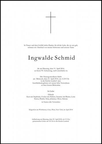 Ingwalde Schmid