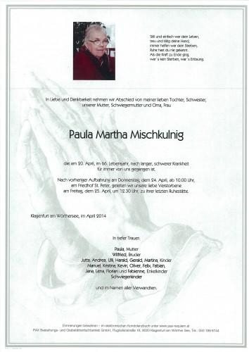Paula Martha Mischkulnig