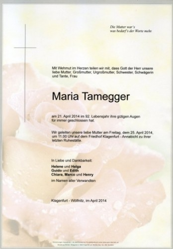 Maria Tamegger