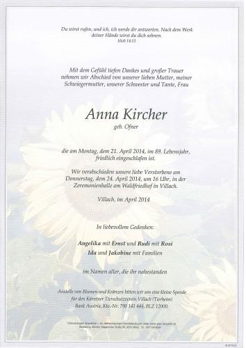 Anna Kircher geb. Ofner