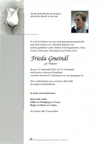 Frieda Gmeindl