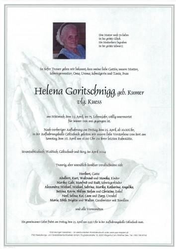 Helena Goritschnigg, geb. Kumer