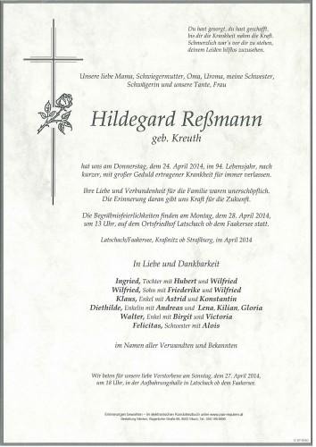 Hildegard Reßmann