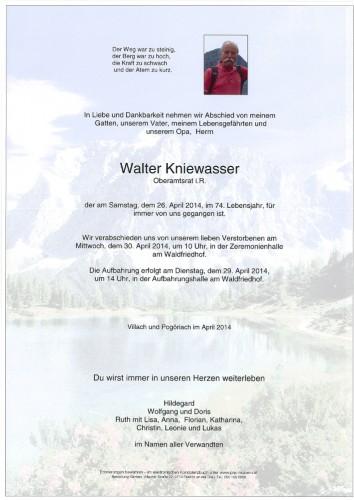 Walter Kniewasser Oberamtsrat i.R.