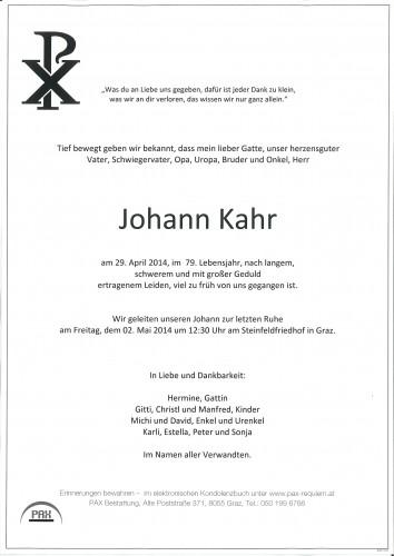 Johann Kahr
