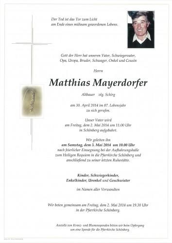 Matthias Mayerdorfer