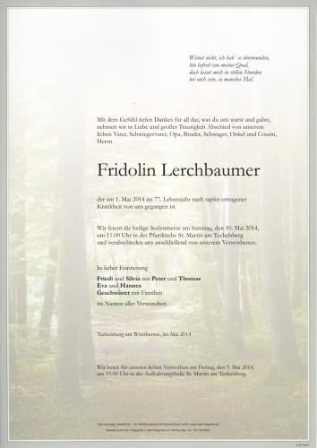 Fridolin Lerchbaumer