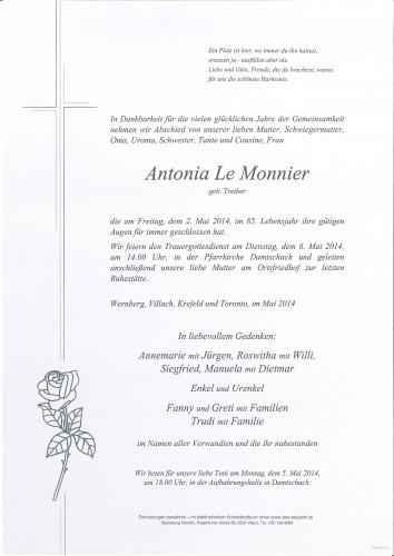 Antonia Le Monnier