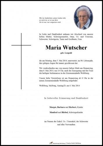 Maria Wutscher